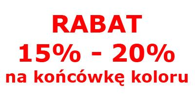 Rabat 15-20% na końcówkę koloru